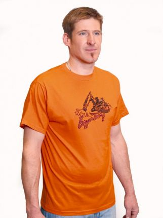 T-Shirt mit Rundhalsauschnitt - Bagger Tuning